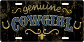 Genuine Cowgirl License Plate Tag