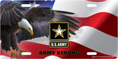 Army Eagle License Plate Tag