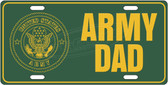 Army Dad License Plate Tag