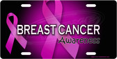 Breast Cancer Awareness License Plate Tag
