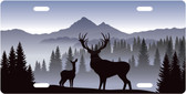 Buck and Doe License Plate Tag
