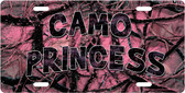 Camo Princess License Plate Tag