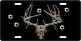 Deer Skull Bullets License Plate Tag