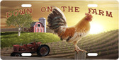 Down On The Farm License Plate Tag