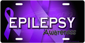 Epilepsy Awareness License Plate Tag