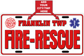Personalized Fire & Rescue License Plate Tag