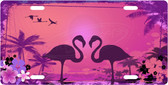 Pink Flamingo License Plate Tag