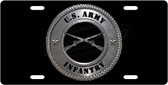 Army Infantry License Plate Tag