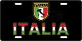 Italia License Plate Tag