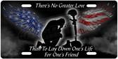 Kneeling Soldier License Plate Tag