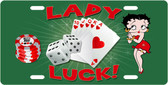 Lady Luck License Plate Tag