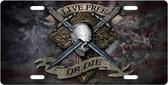 Live Free Or Die Skull License Plate Tag