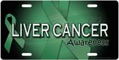 Liver Cancer Awareness License Plate Tag