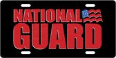 National Guard License Plate Tag