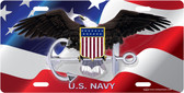 United States Navy License Plate Tag