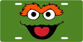 Oscar The Grouch License Plate Tag