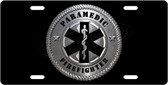 Paramedic Firefighter License Plate Tag