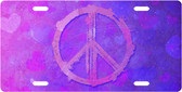 Peace Hearts License Plate Tag