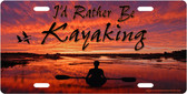 Rather Be Kayaking License Plate Tag
