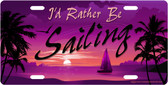 Rather Be Sailing License Plate Tag