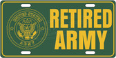 Retired Army License Plate Tag