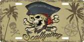 Scallywag Pirate License Plate Tag