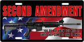 Second Amendment License Plate Tag