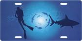 Shark Diver License Plate Tag