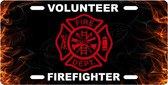 Volunteer Firefighter License Plate Tag