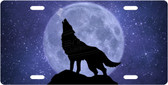 Night Wolf License Plate Tag