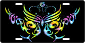 Tribal Butterfly License Plate Tag