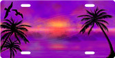Paradise Sunset License Plate Tag