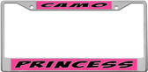 Camo Princess License Plate Frame