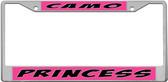 Camo Princess License Plate Frame
