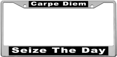 Carpe Diem License Plate Frame