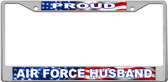Air Force Husband License Plate Frame