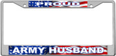 Army Husband License Plate Frame