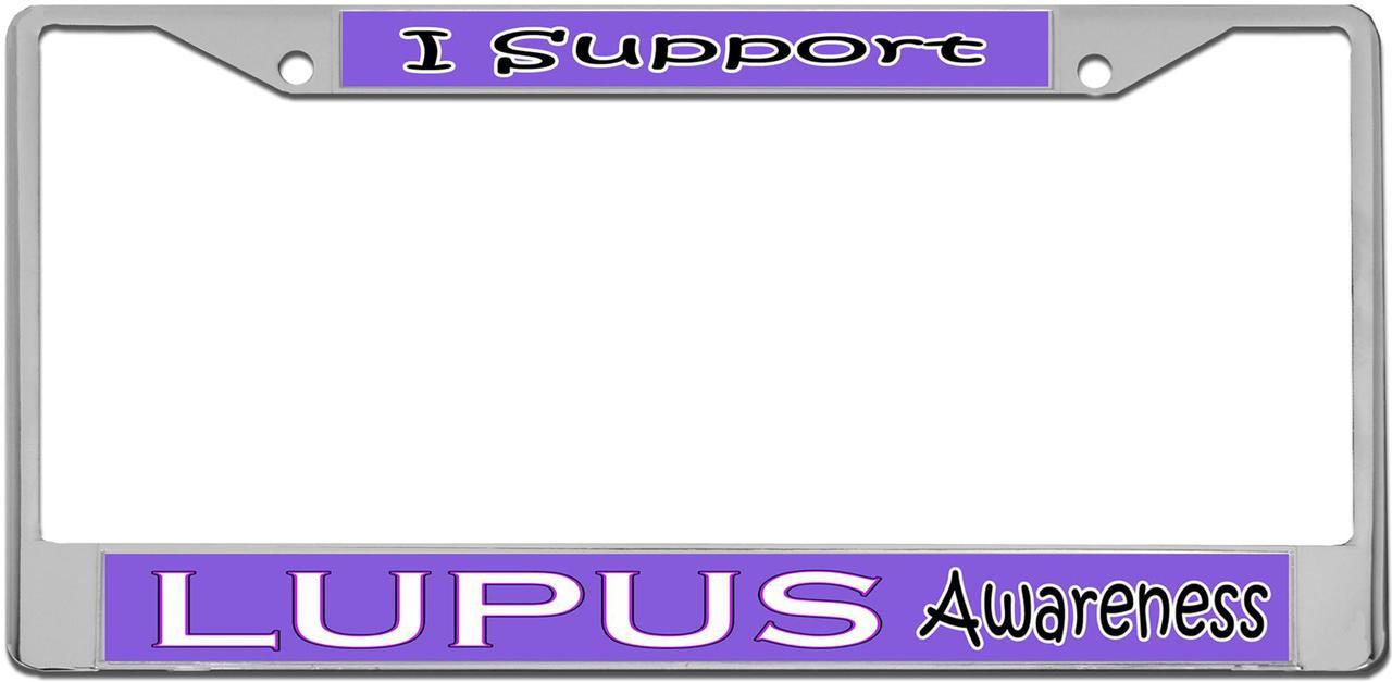Lupus Awareness License Plate Frame Tag