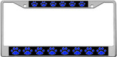 Blue Cat Paws License Plate Frame