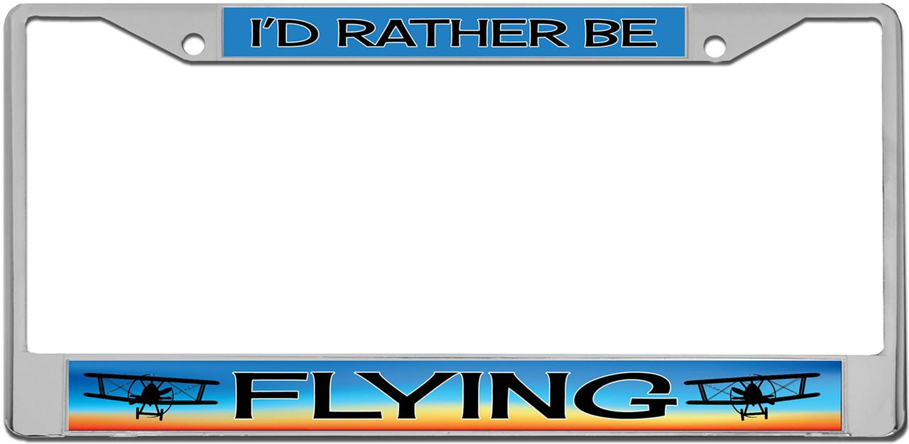 I/'d Rather Be Flying Plate Frame