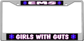 EMS Girls License Plate Frame