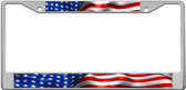 American Flag Custom License Plate Frame