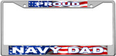 Navy Dad License Plate Frame