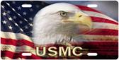 USMC Patriotic Eagle License Plate