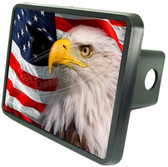 American Patriotic Eagle Trailer Hitch Cover