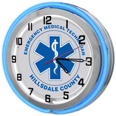 Blue EMT Neon Clock