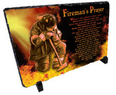 Firefighter Flames Stone Slate
