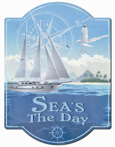 Seas The Day Wall Sign