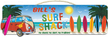Personalized Surf Shack Wall Sign