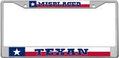 Texan License Plate Frame